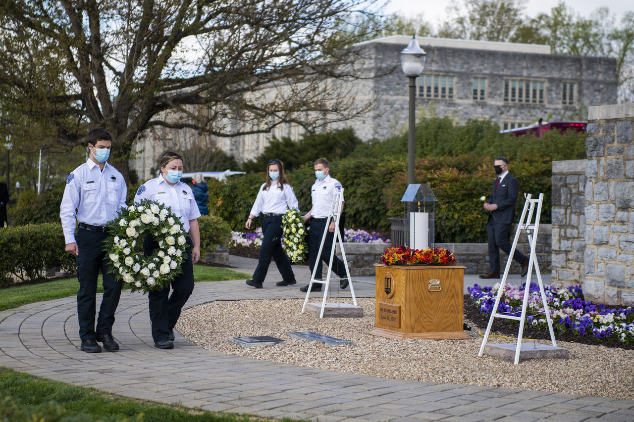 Wreaths are laid at the April 16th Memorial