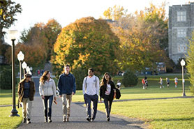 Students on the Virginia Tech campus
