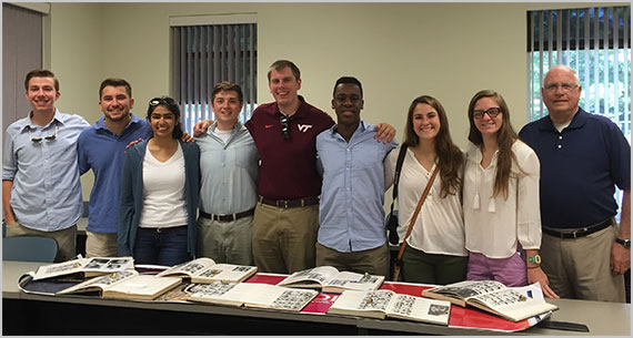 Virginia Tech's Class of 2018 Ring Design Committee with Jim Flynn '64