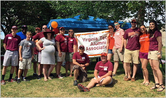 Virginia Tech Alumni Association's New England chapter student send-off picnic