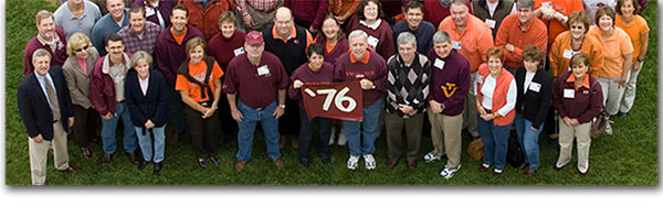 Virginia Tech reunions and homecomings