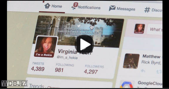 Video: WDBJ7 - Twitter allows you to see Virginia Tech through a new set of eyes each week