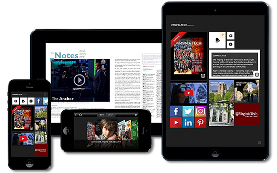 Virginia Tech Magazine app for iOs and Android