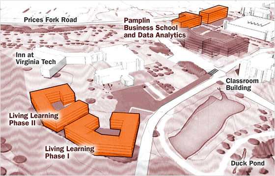 Virginia Tech's Global Business and Analytics Complex